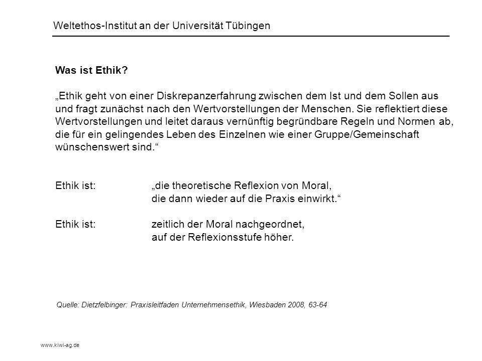 Weltethos-Institut an der Universität Tübingen