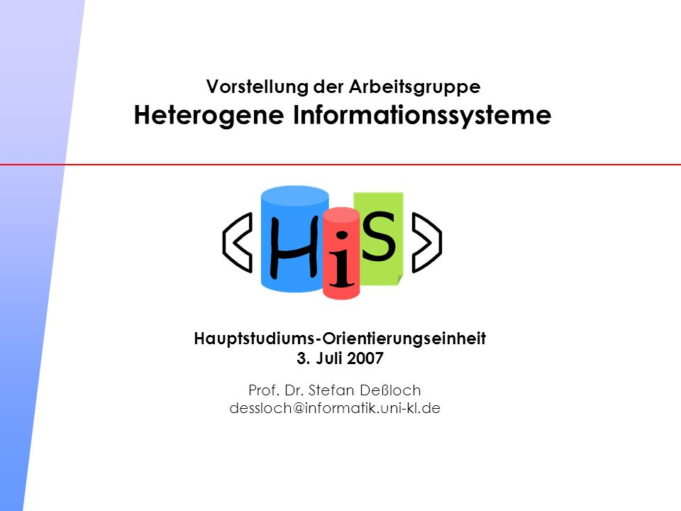 Heterogene Informationssysteme