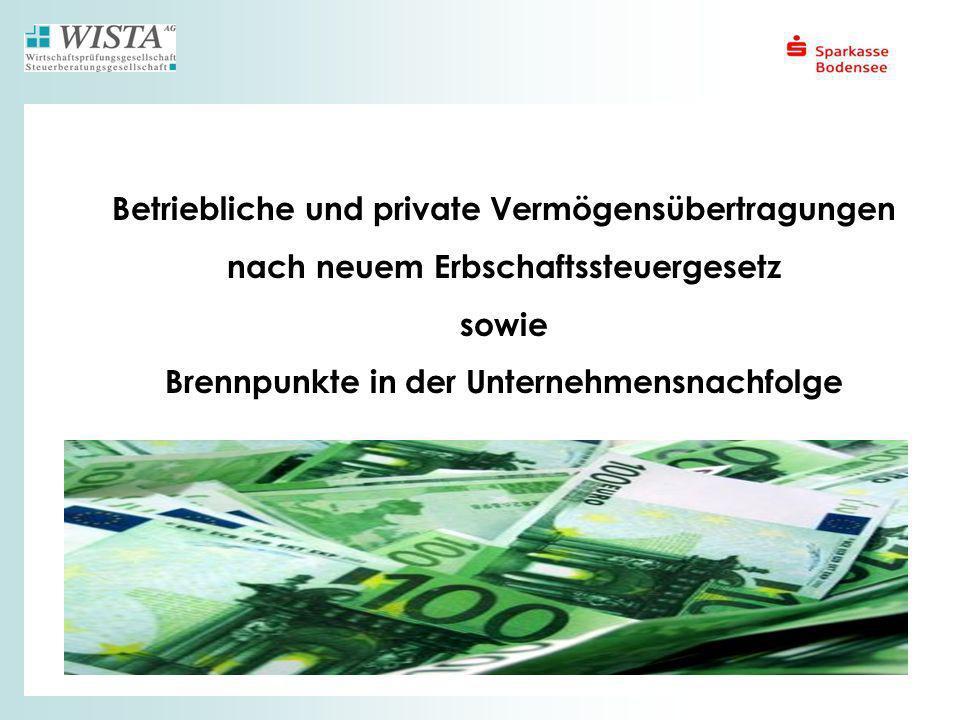 Betriebliche und private Vermögensübertragungen