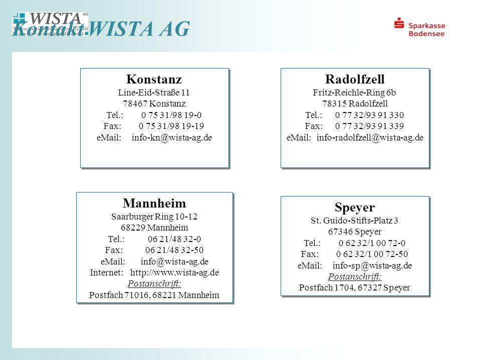 eMail: info-sp@wista-ag.de Postanschrift: Postfach 1704, 67327 Speyer