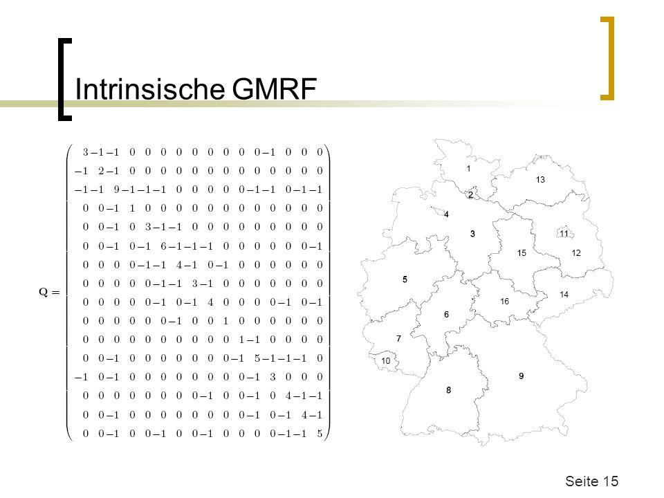 Intrinsische GMRF Q=Sigma^-1 Aufbau Wie schauts bei Bildern aus