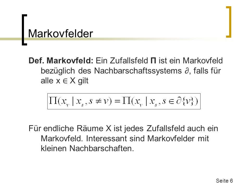 Markovfelder