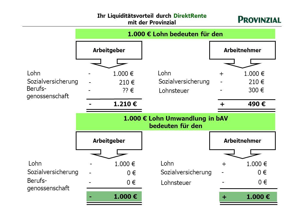 Ihr Liquiditätsvorteil durch DirektRente mit der Provinzial