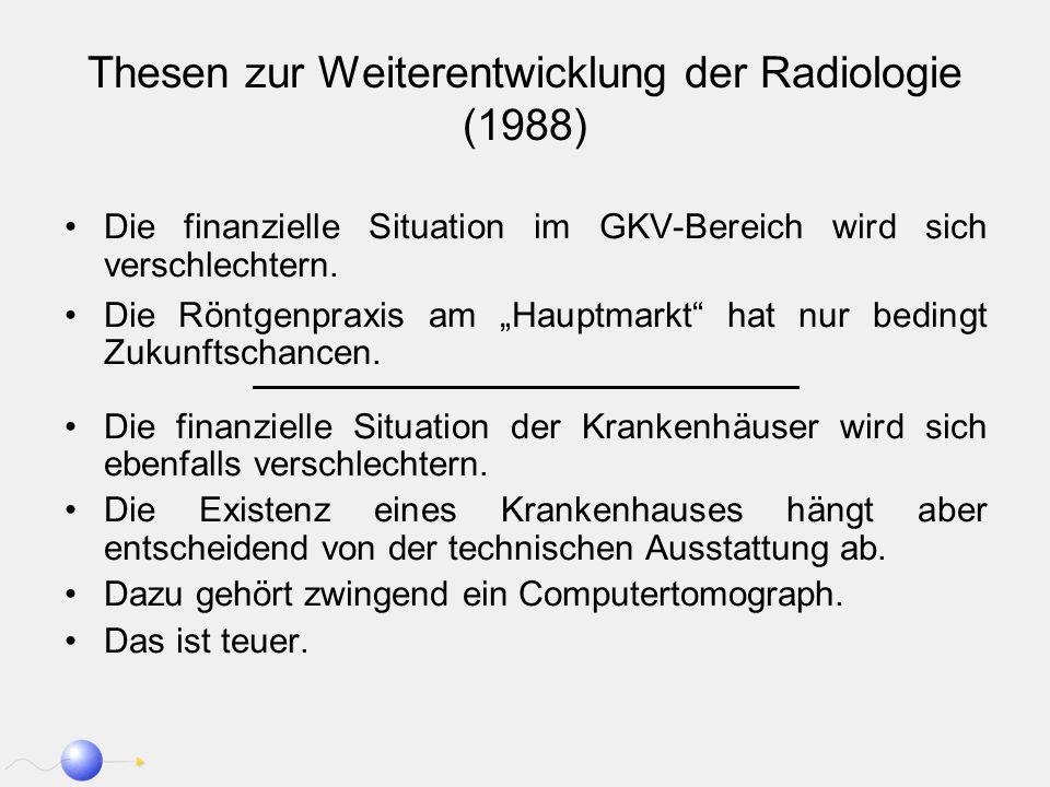 Thesen zur Weiterentwicklung der Radiologie (1988)
