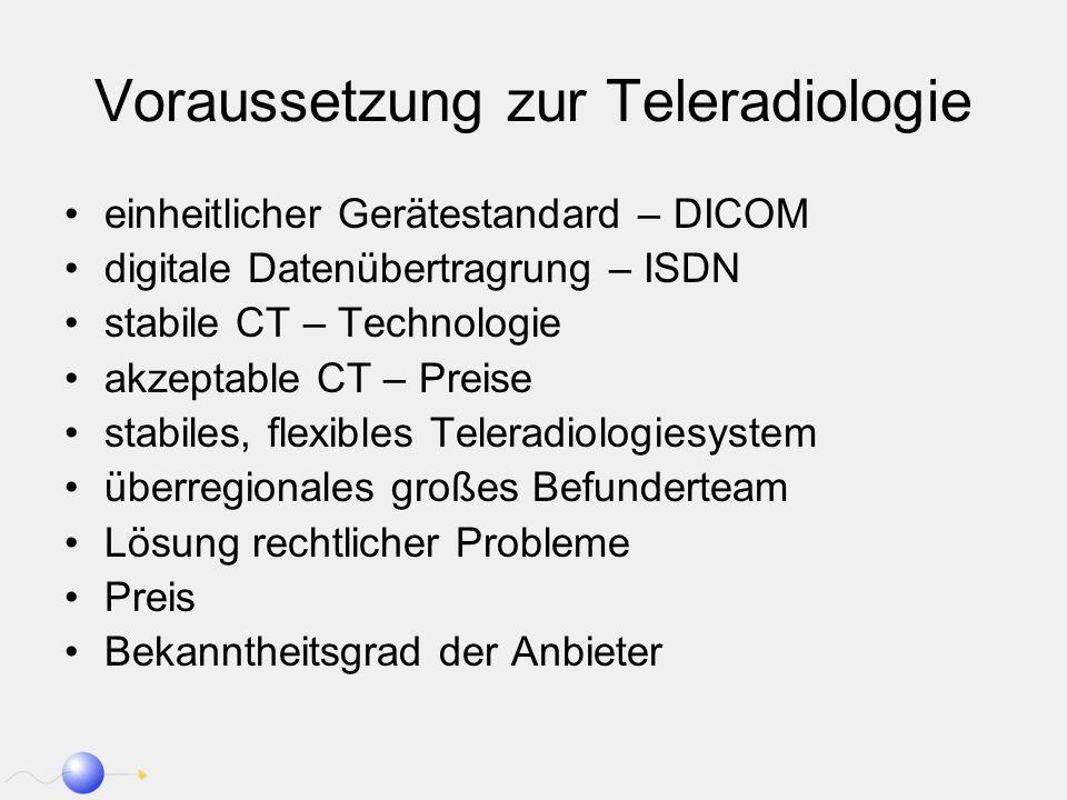 Voraussetzung zur Teleradiologie
