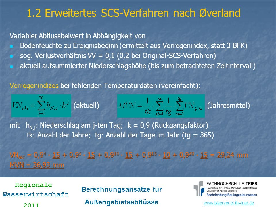 1.2 Erweitertes SCS-Verfahren nach Øverland