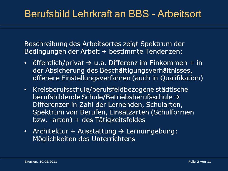 Berufsbild Lehrkraft an BBS - Arbeitsort