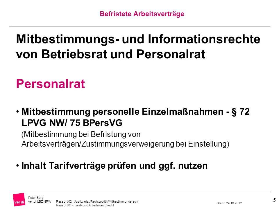 Mitbestimmungs- und Informationsrechte von Betriebsrat und Personalrat