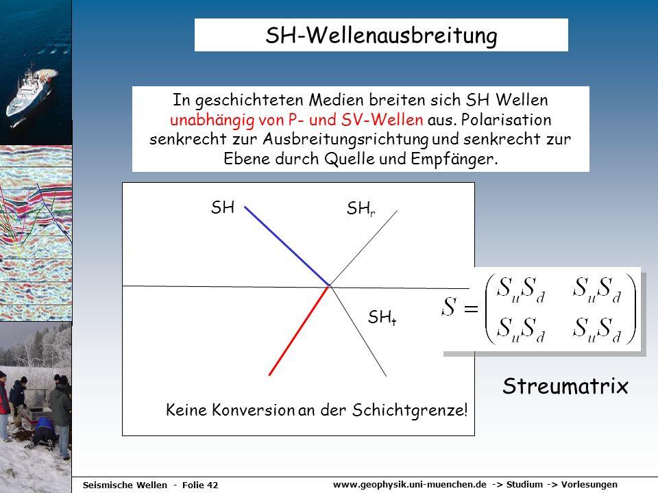 SH-Wellenausbreitung