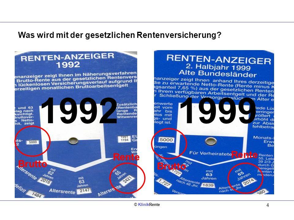 1992 1999 Rente Rente Brutto Brutto