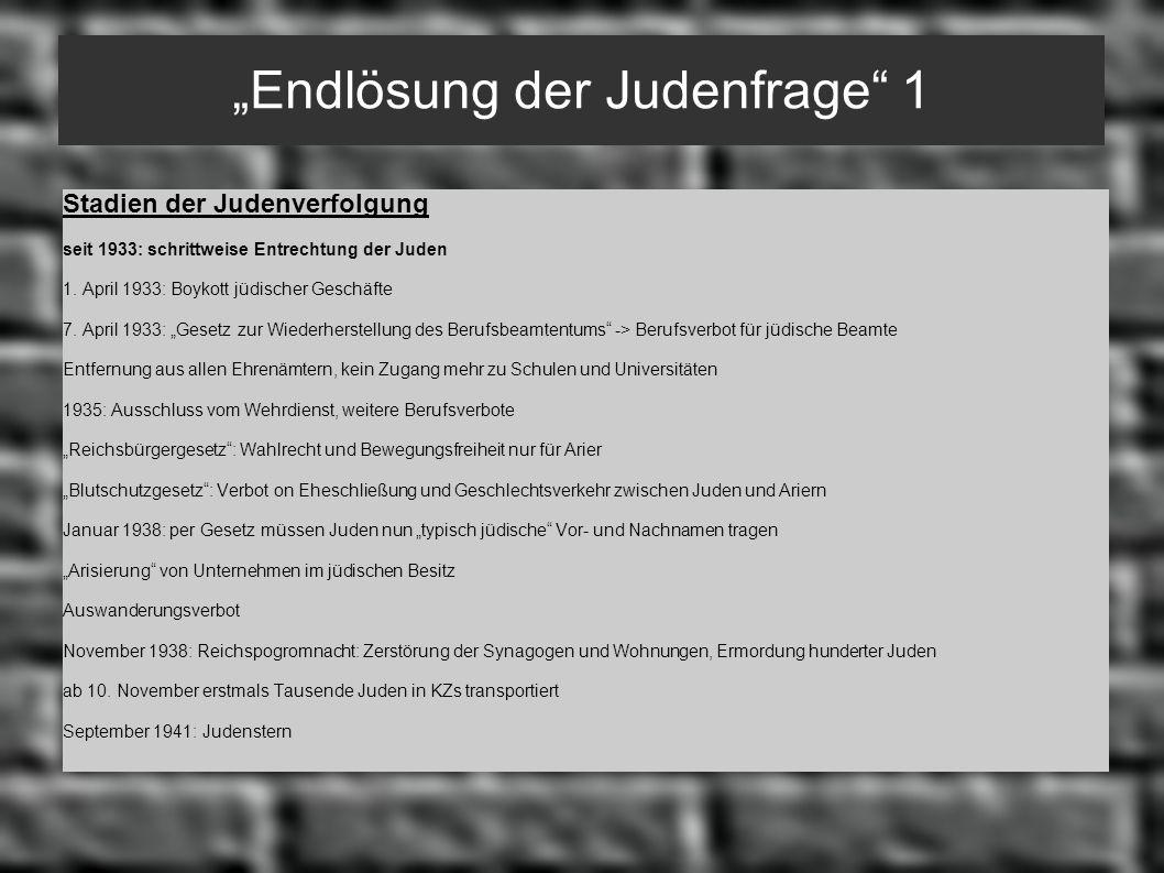 """""""Endlösung der Judenfrage 1"""