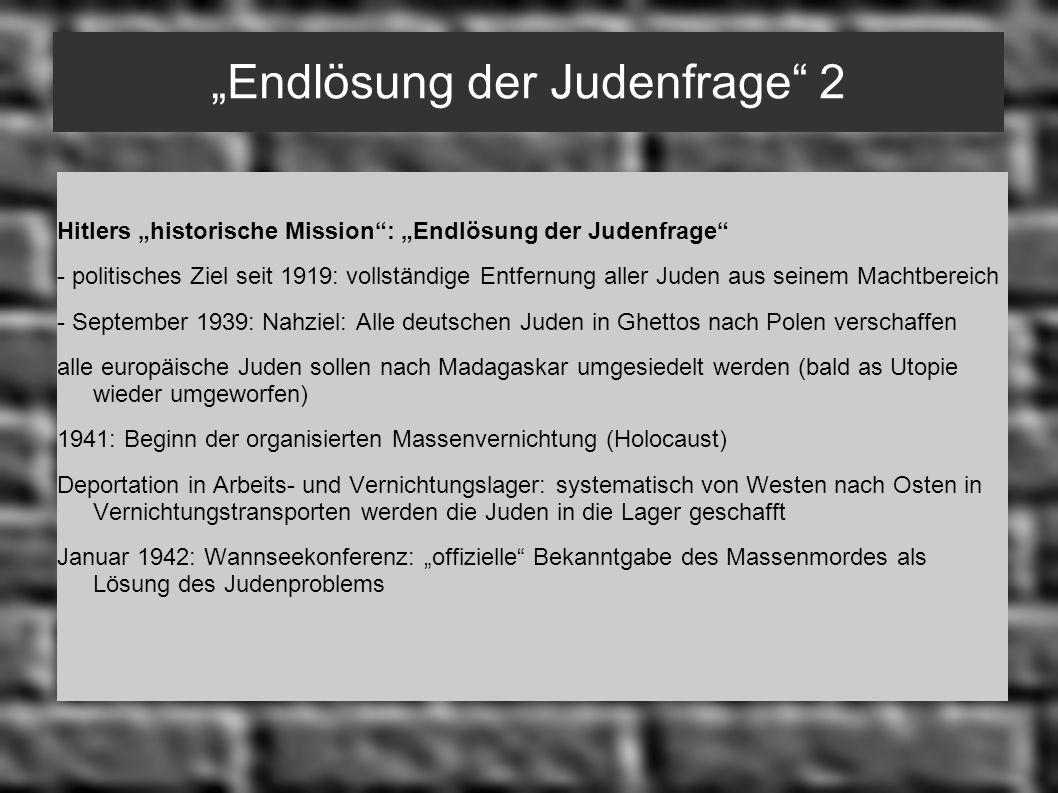 """""""Endlösung der Judenfrage 2"""