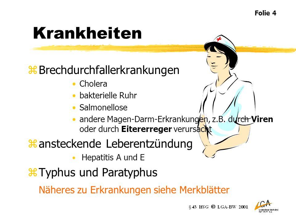 Krankheiten Brechdurchfallerkrankungen ansteckende Leberentzündung