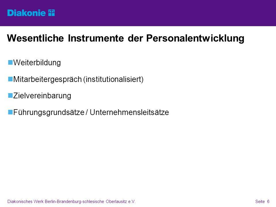 Wesentliche Instrumente der Personalentwicklung