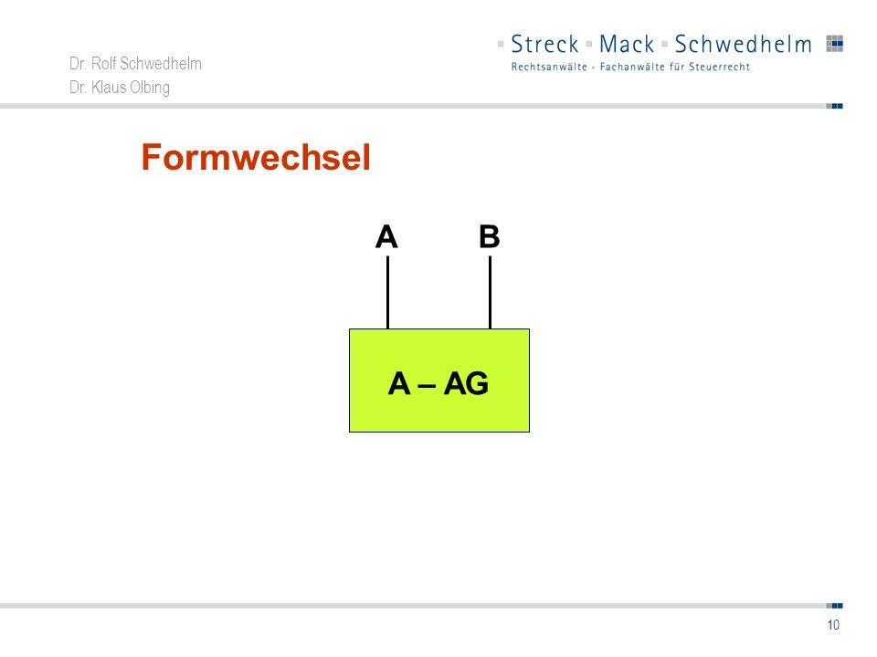 Formwechsel A B A – AG