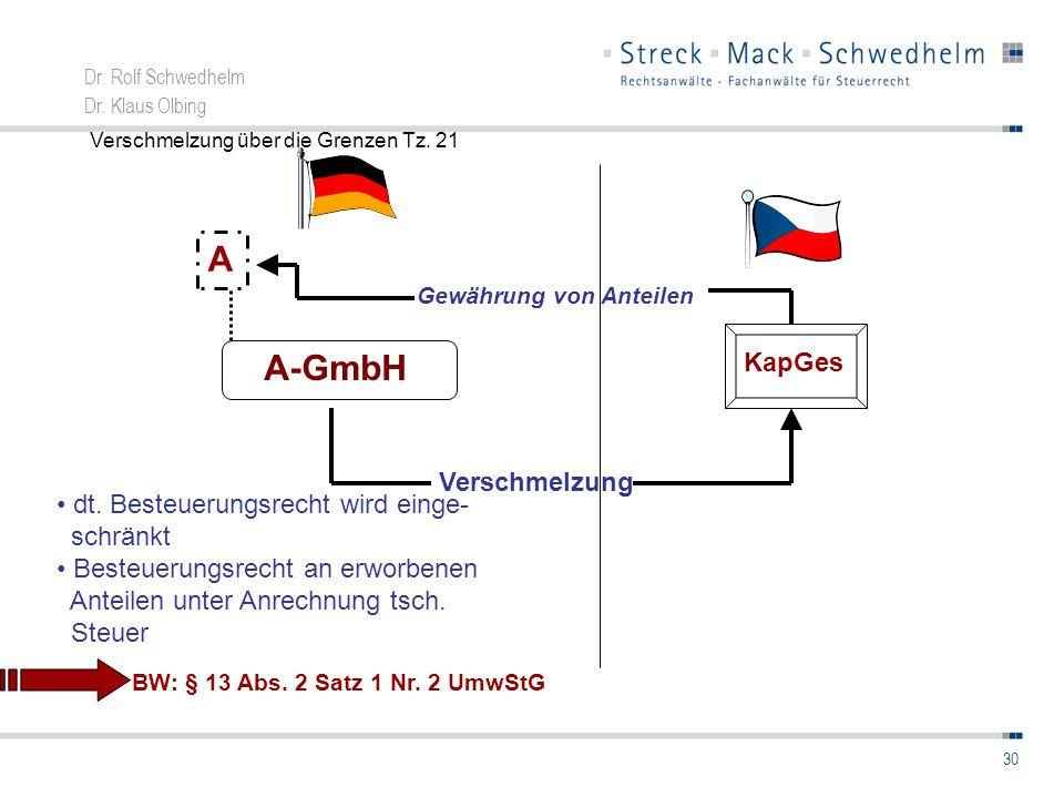 A A-GmbH KapGes Verschmelzung