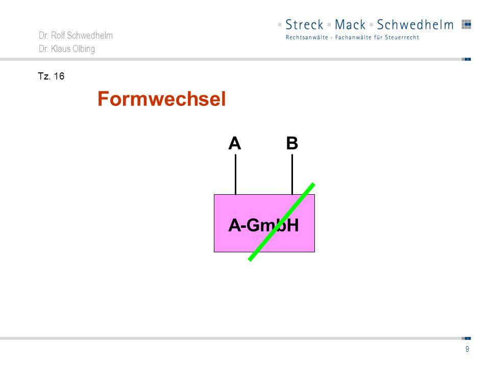 Tz. 16 Formwechsel A-GmbH A B