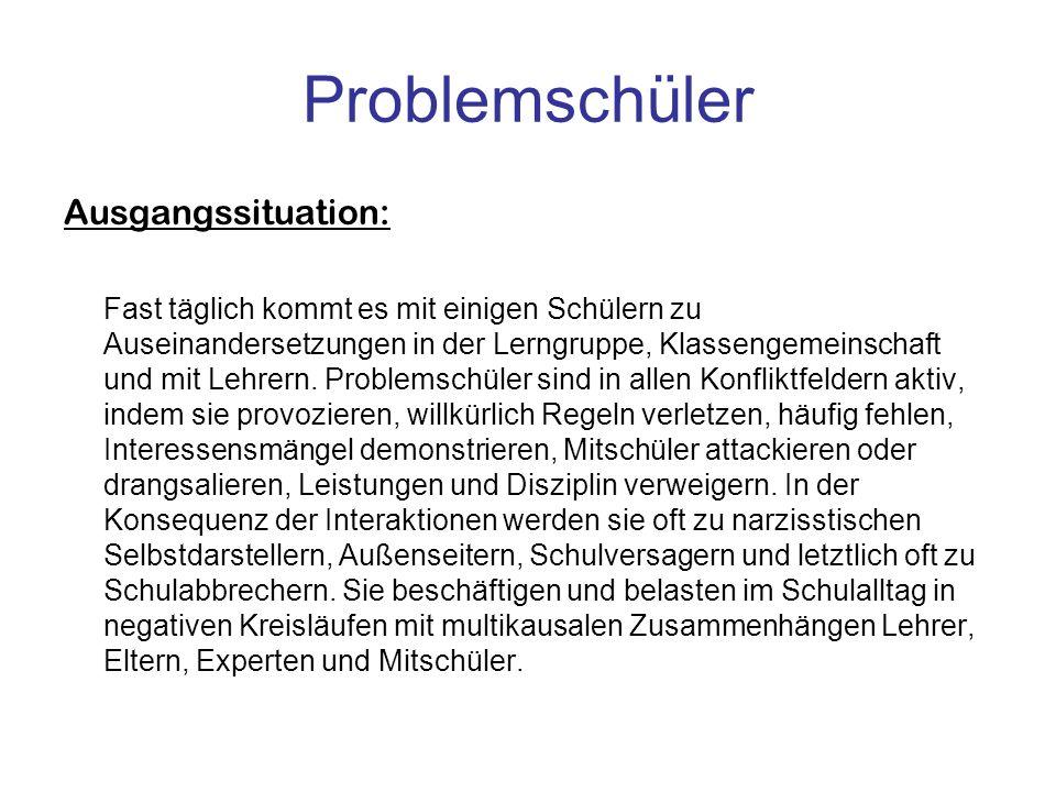 Problemschüler Ausgangssituation: