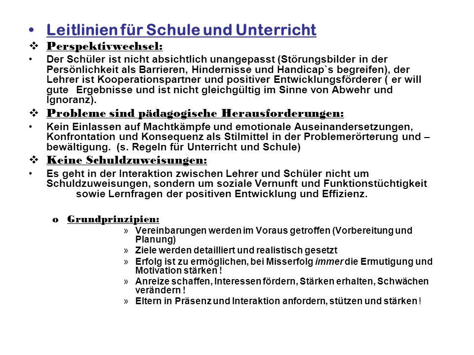 Leitlinien für Schule und Unterricht
