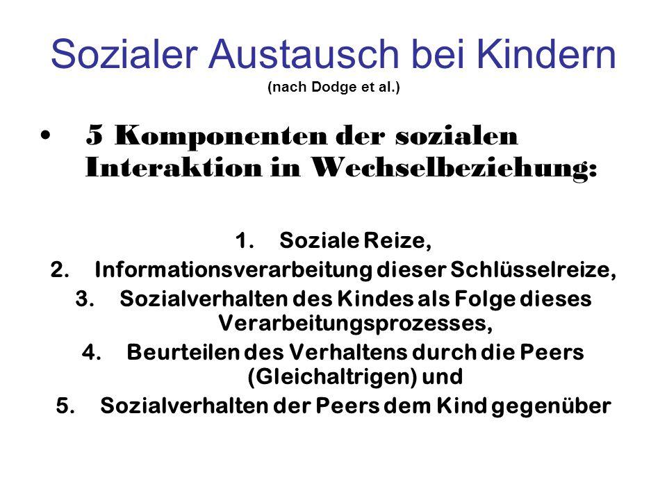 Sozialer Austausch bei Kindern (nach Dodge et al.)