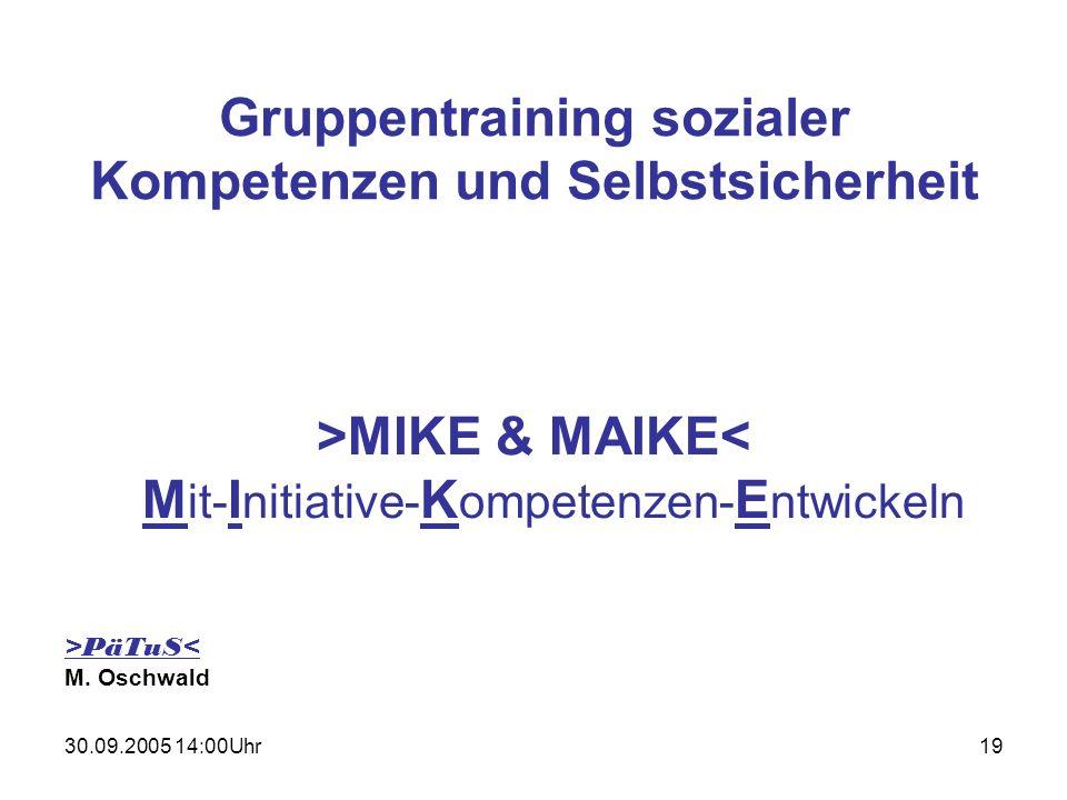 Gruppentraining sozialer Kompetenzen und Selbstsicherheit