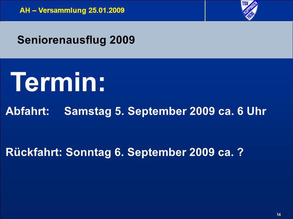 Termin: Seniorenausflug 2009