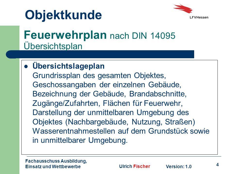 Feuerwehrplan nach DIN 14095 Übersichtsplan