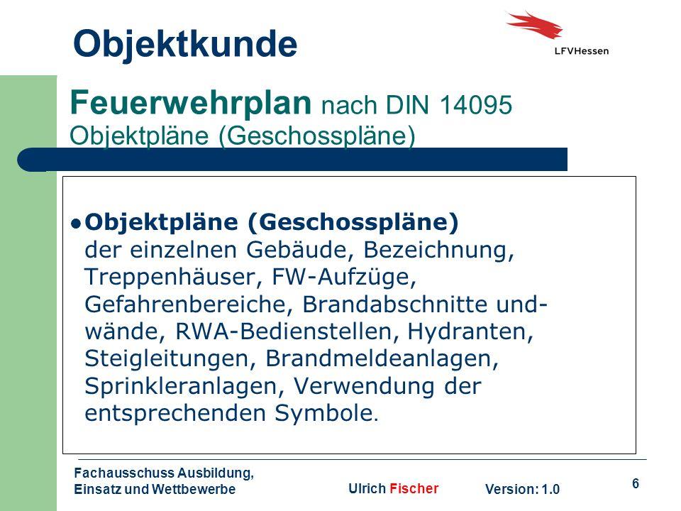 Feuerwehrplan nach DIN 14095 Objektpläne (Geschosspläne)