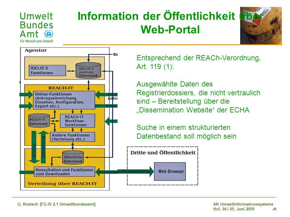 Information der Öffentlichkeit über Web-Portal
