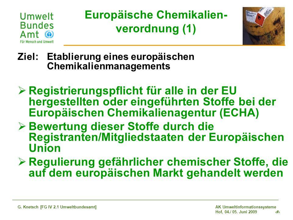 Europäische Chemikalien- verordnung (1)