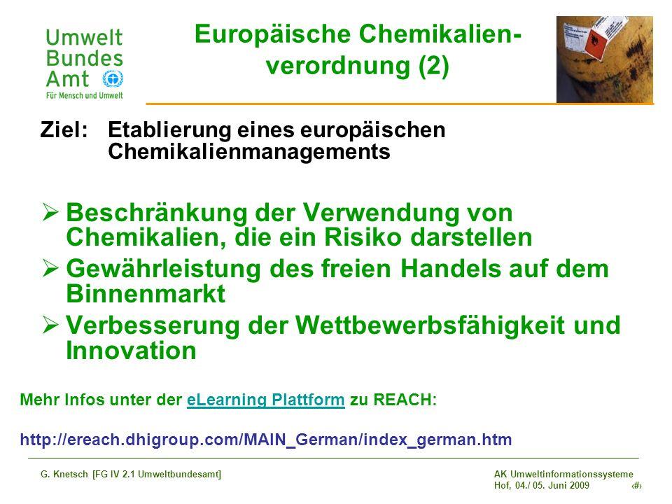 Europäische Chemikalien- verordnung (2)
