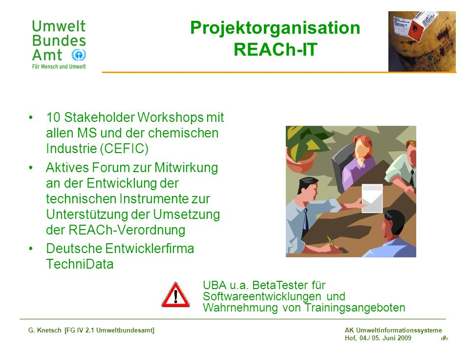 Projektorganisation REACh-IT