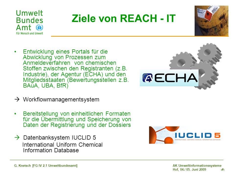Ziele von REACH - IT