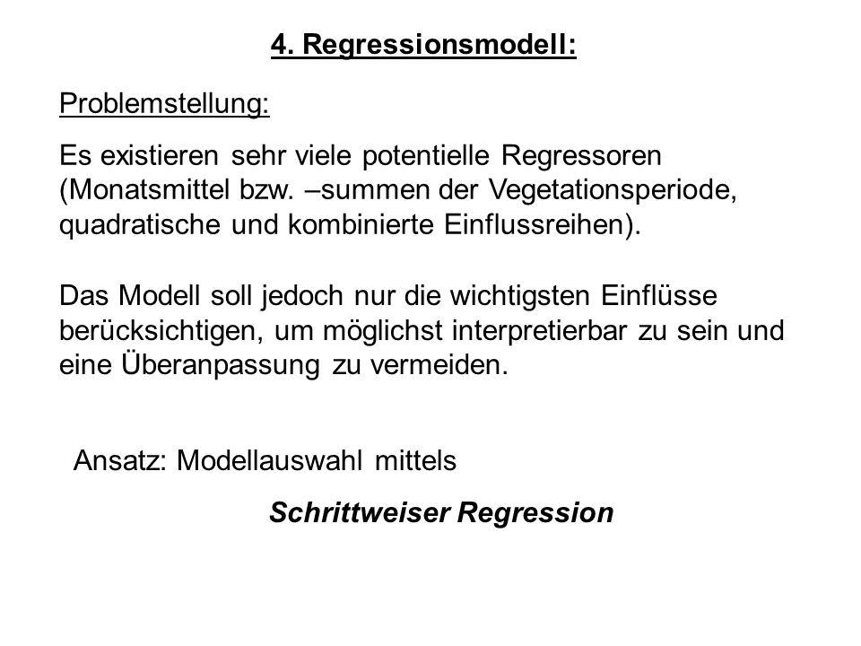 Schrittweiser Regression