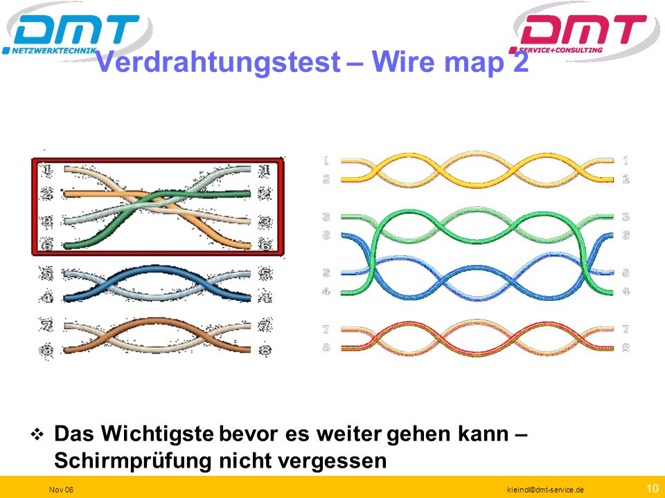 Verdrahtungstest – Wire map 2