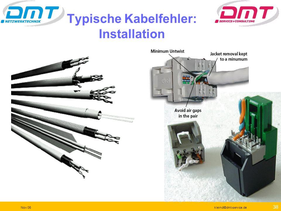 Typische Kabelfehler: Installation