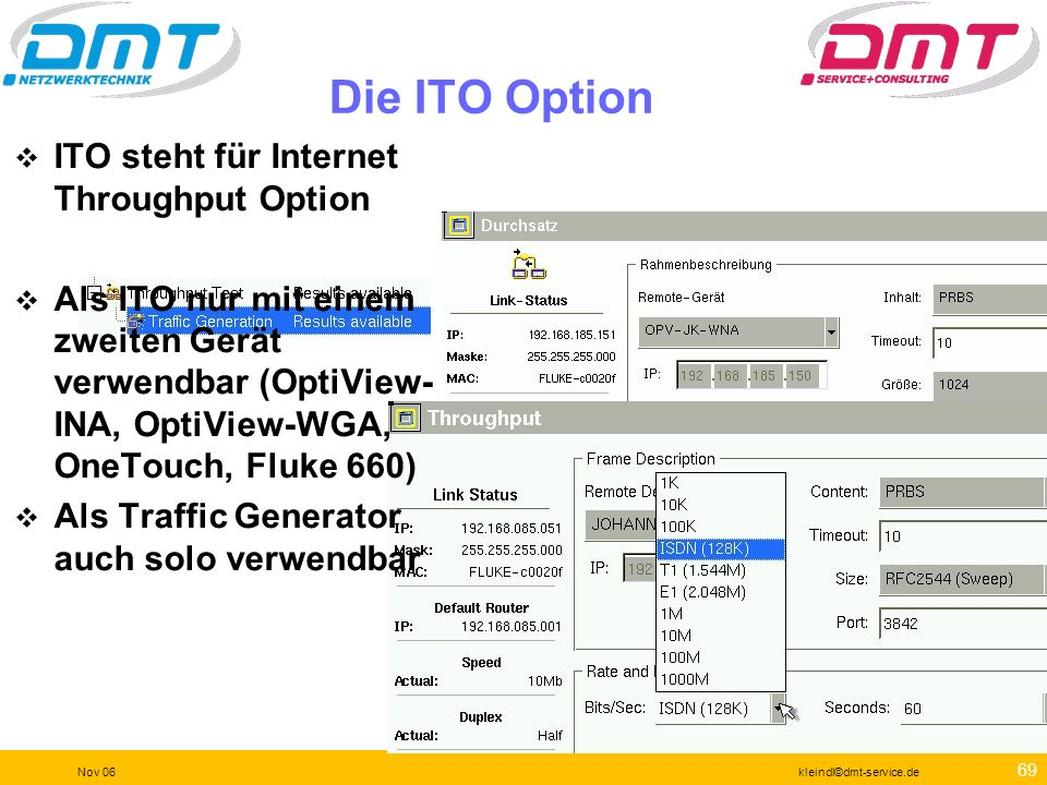 Die ITO Option ITO steht für Internet Throughput Option