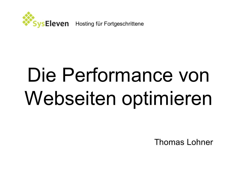 Die Performance von Webseiten optimieren