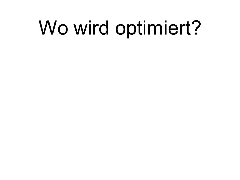 Wo wird optimiert
