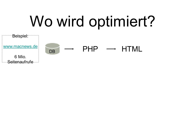 Wo wird optimiert PHP HTML Beispiel: www.macnews.de