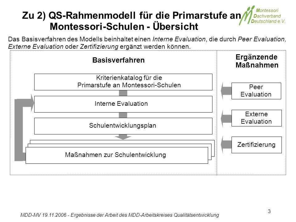 Kriterienkatalog für die Primarstufe an Montessori-Schulen