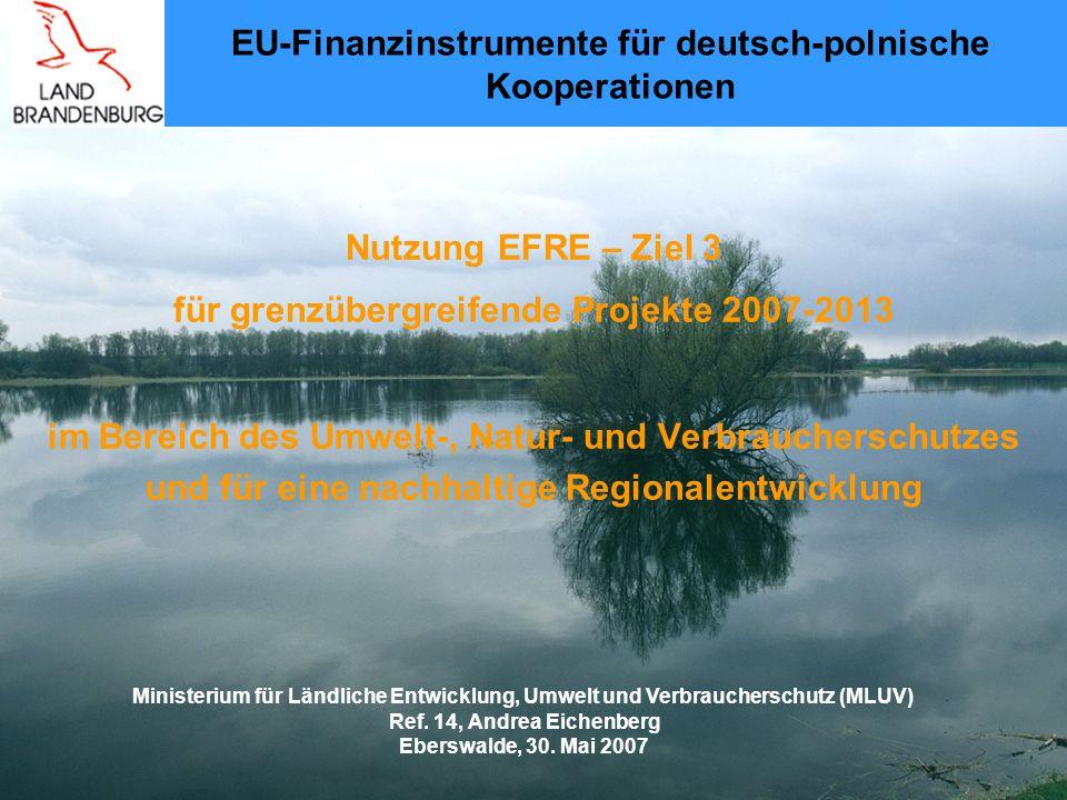 EU-Finanzinstrumente für deutsch-polnische Kooperationen