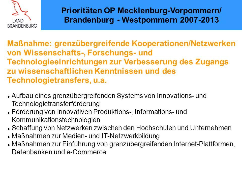 Maßnahme: grenzübergreifende Kooperationen/Netzwerken
