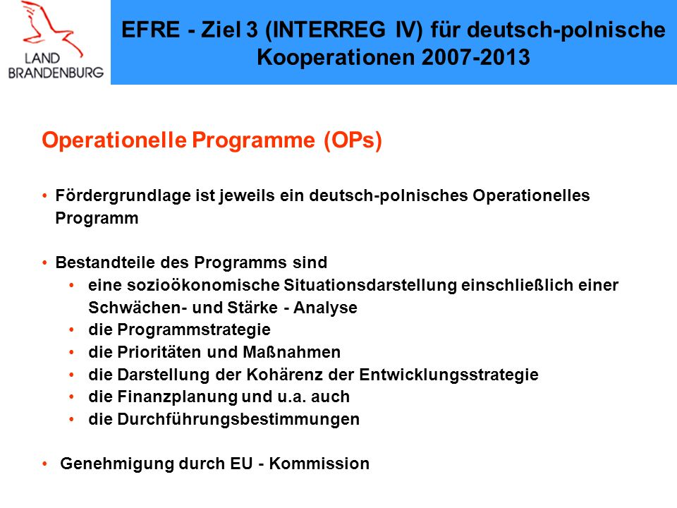 Operationelle Programme (OPs)