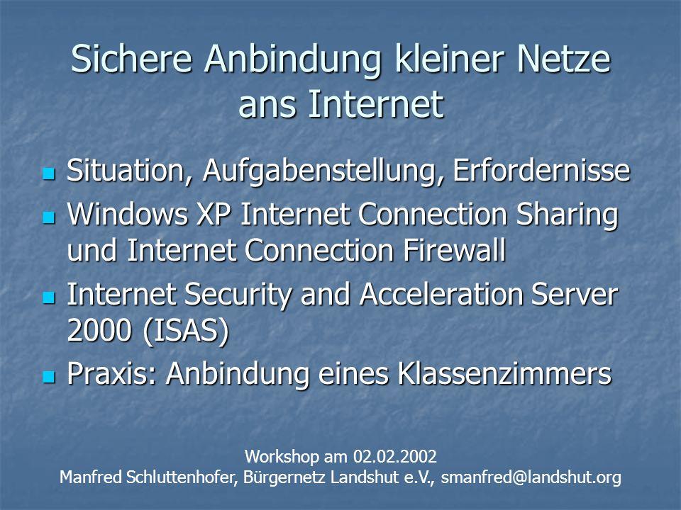 Sichere Anbindung kleiner Netze ans Internet
