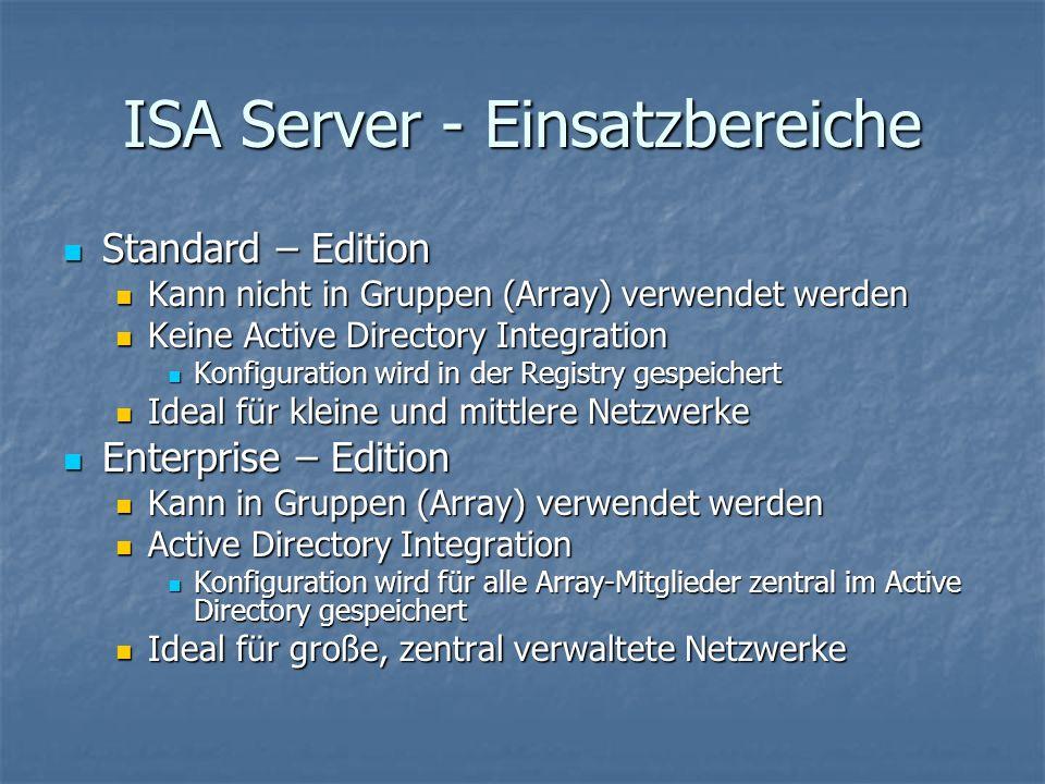 ISA Server - Einsatzbereiche