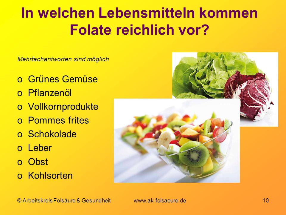 In welchen Lebensmitteln kommen Folate reichlich vor