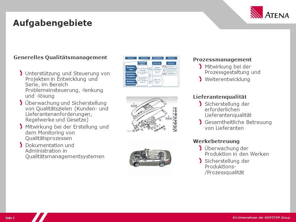 Aufgabengebiete Generelles Qualitätsmanagement Prozessmanagement