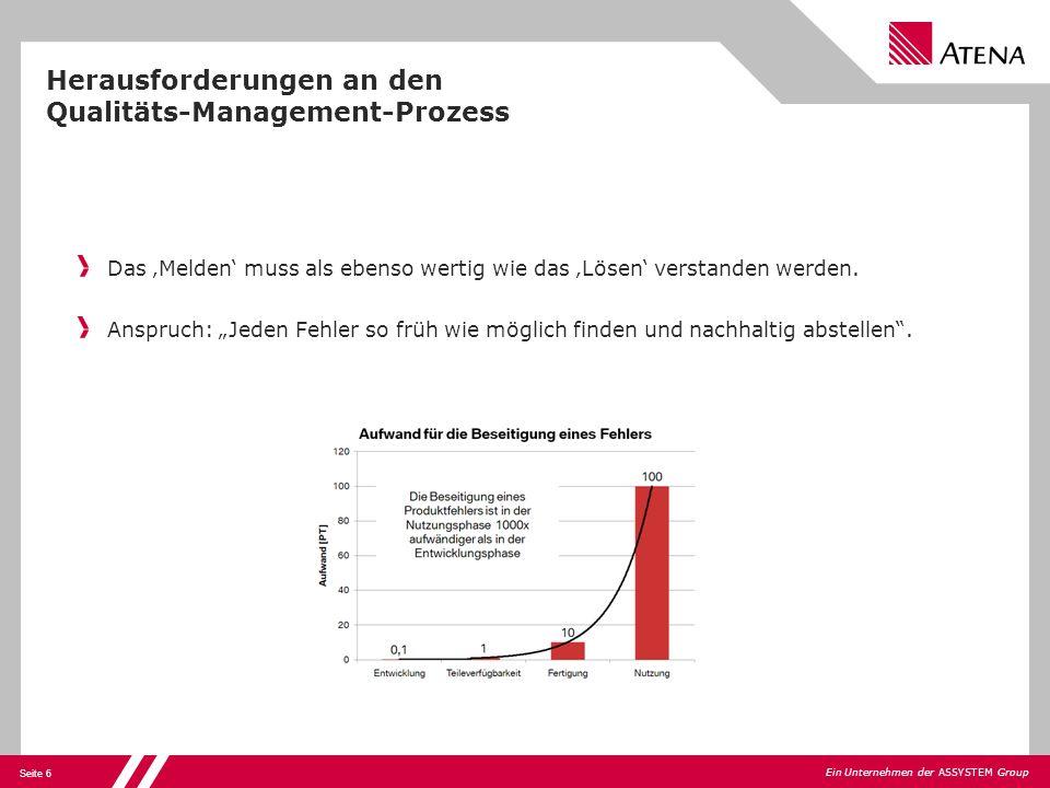 Herausforderungen an den Qualitäts-Management-Prozess