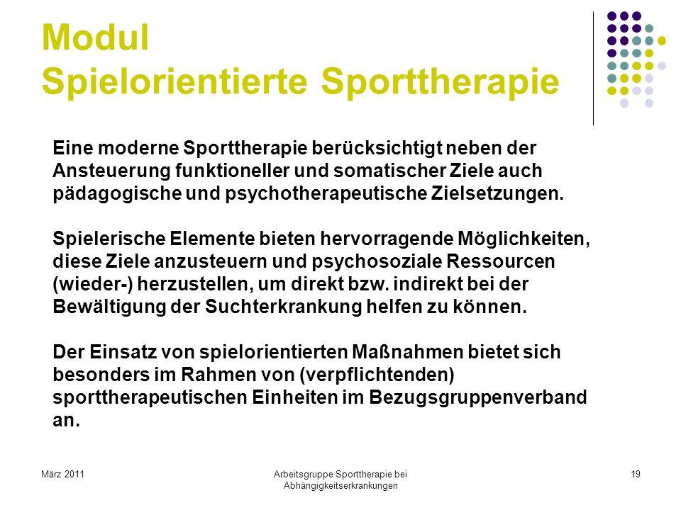 Modul Spielorientierte Sporttherapie